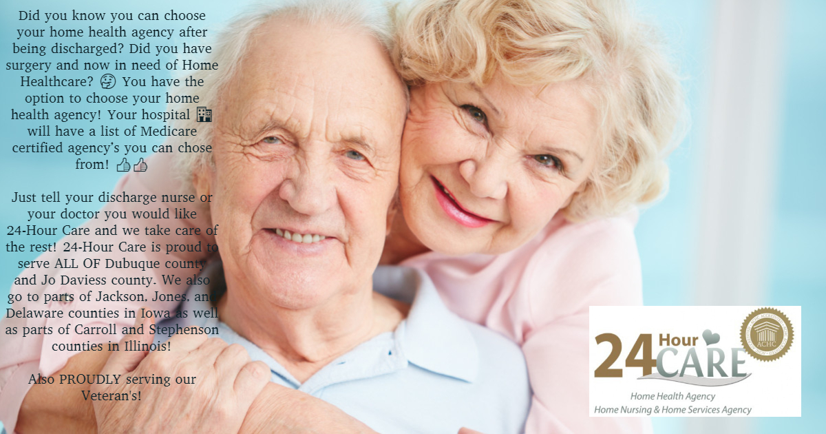 You have the option to choose your home health agency after being discharged from the hospital.